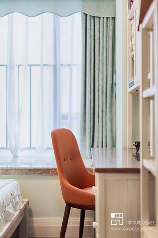 125㎡现代轻奢风装修橙色单椅设计