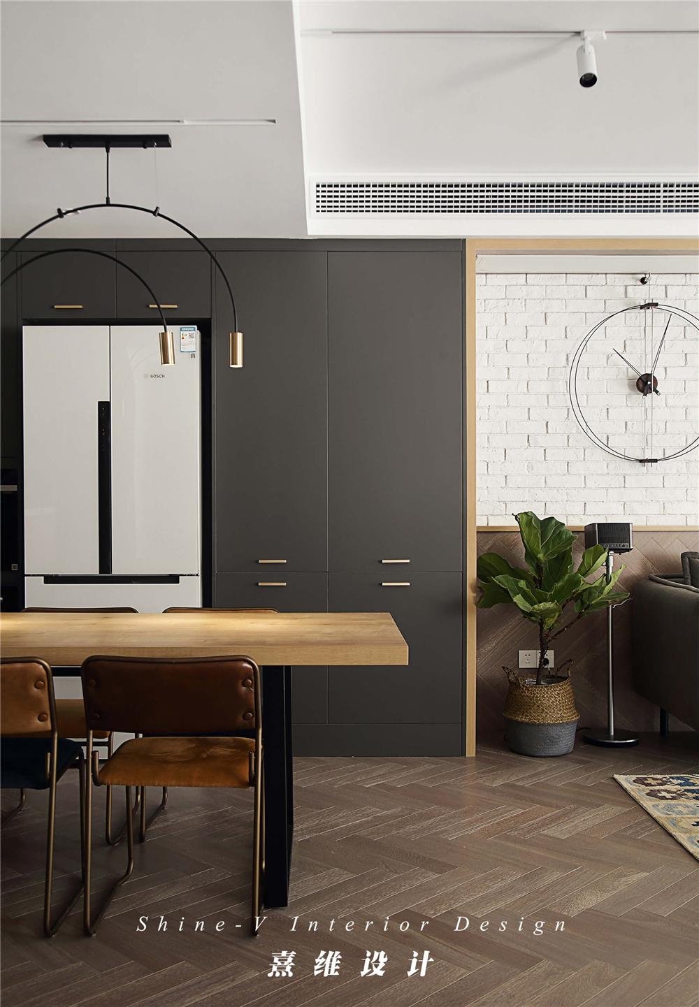 160平复式三居餐边柜装修效果图