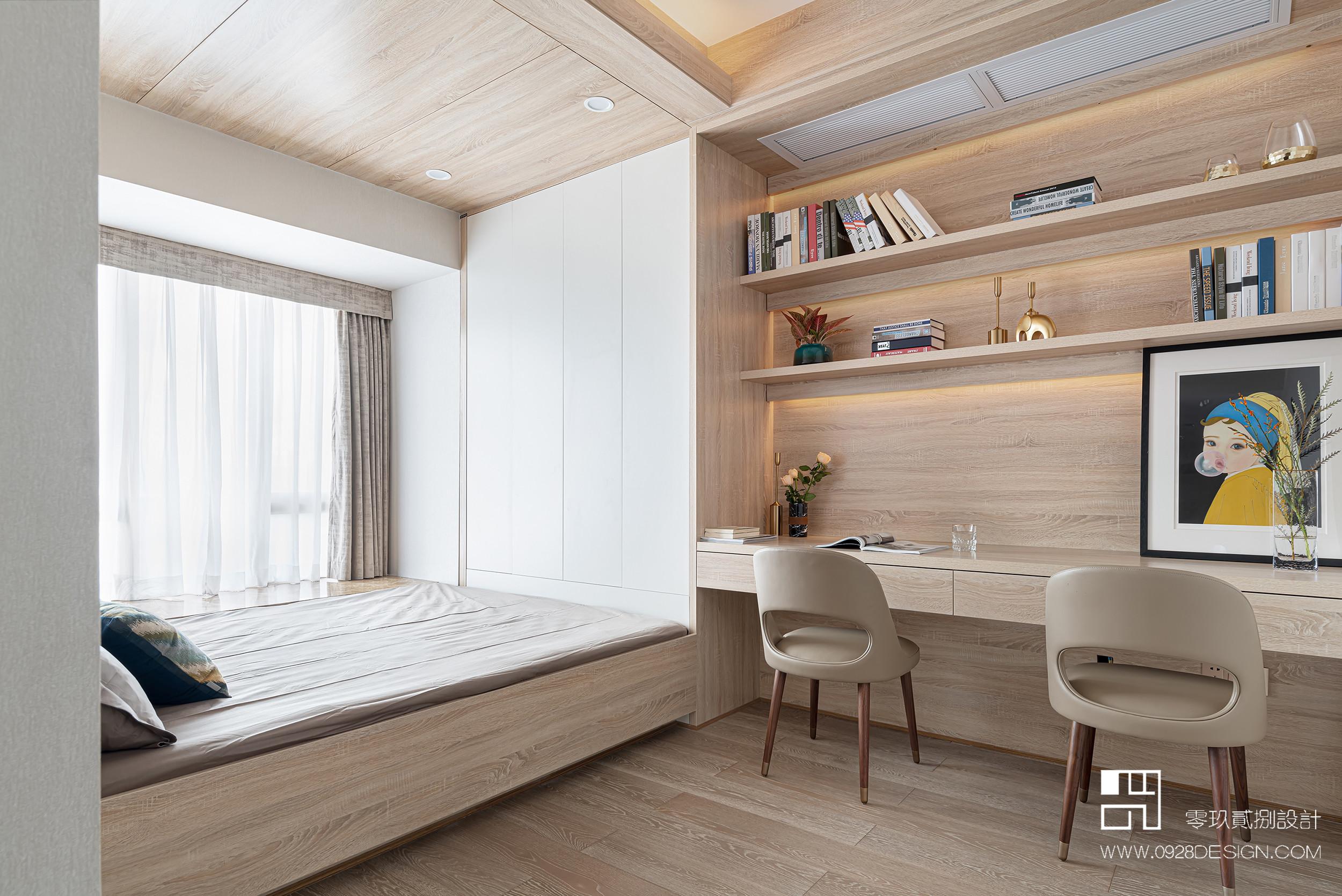 168平米现代风格榻榻米书房装修效果图