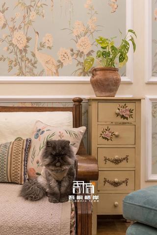 别墅混搭风格装修沙发一角