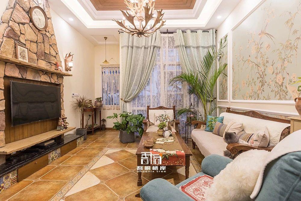 别墅混搭风格客厅装修效果图