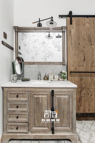 别墅混搭风格装修浴室柜设计图