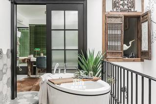 别墅混搭风格装修浴缸设计
