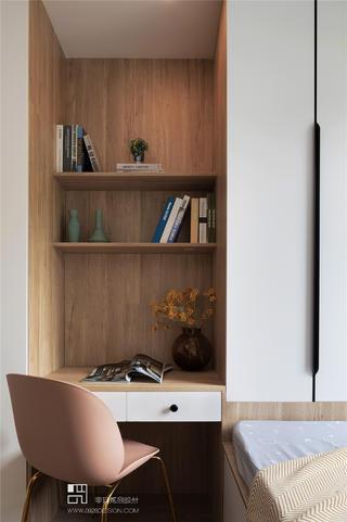 三居室现代风装修书桌设计图