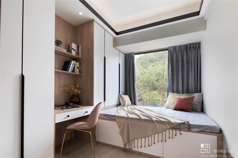 三居室现代风榻榻米卧室装修效果图