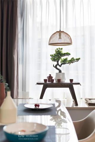 三居室现代中式风装修飘窗小景