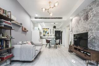 50平北欧风公寓客厅装修效果图