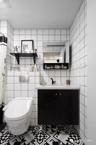 50平北欧风公寓卫生间装修效果图