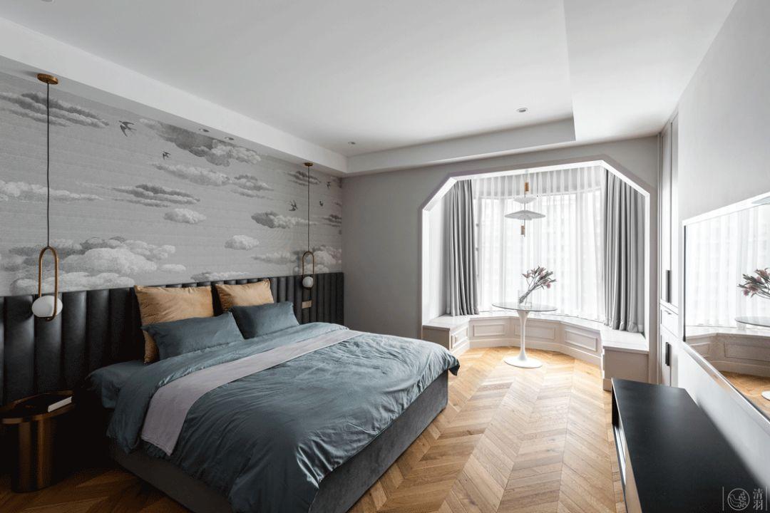 大户型现代简约卧室每日首存送20