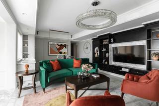 130平混搭风格客厅装修效果图