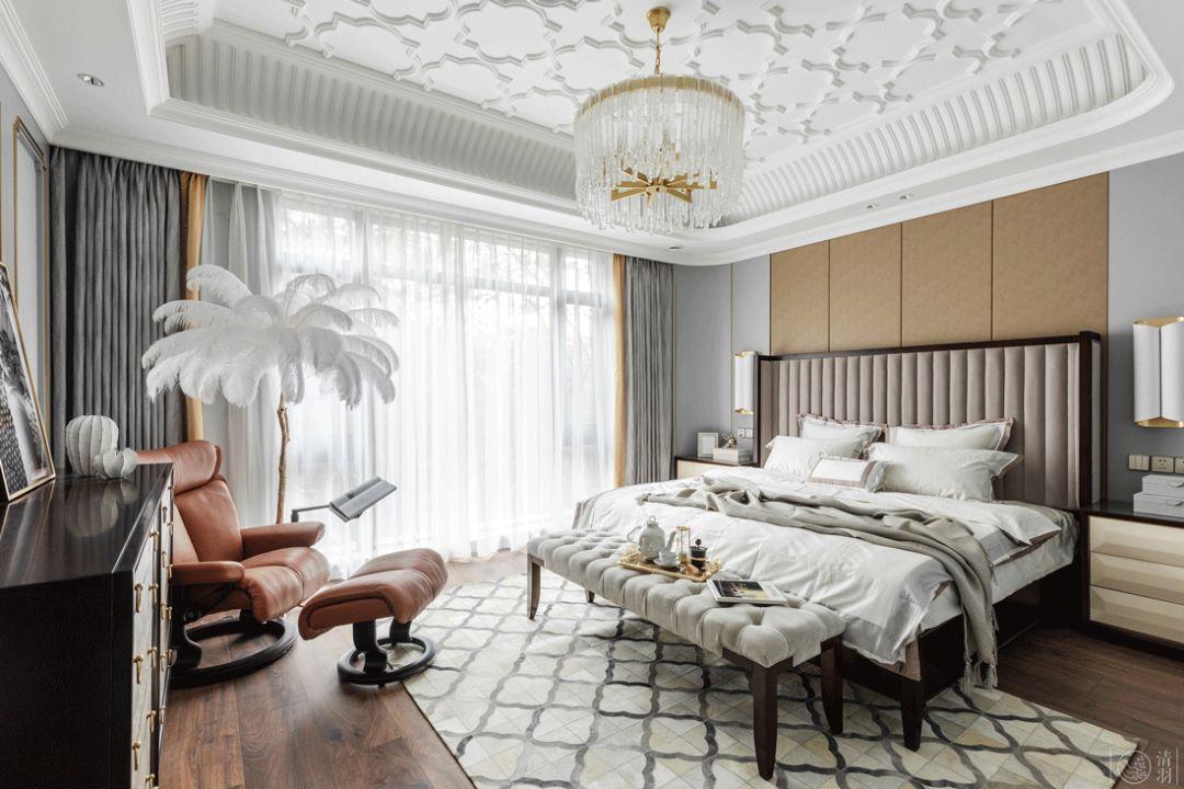 混搭风格别墅卧室装修效果图