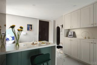 67平混搭一居室装修吧台设计