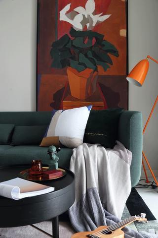 67平混搭一居室装修客厅细节图