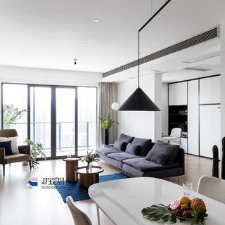102平现代二居装修效果图