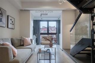 复式北欧风两居客厅装修效果图