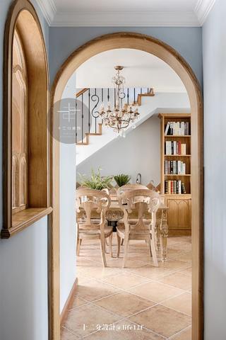 复式法式风格装修弧形拱门设计