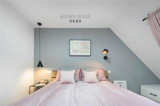 复式北欧风两居卧室装修效果图