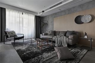高级灰现代两居客厅装修效果图