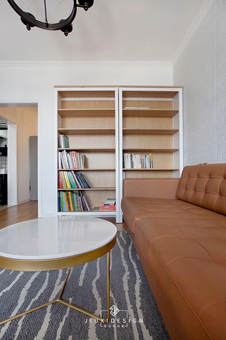 50平小户型两居书架装修效果图