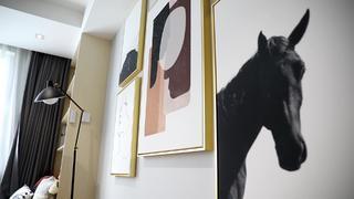 77平米两居室装修挂画特写