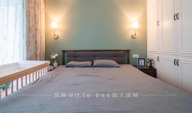 100㎡简美风格卧室背景墙装修效果图