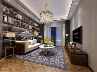 95平米三居室客厅装修效果图