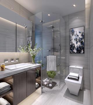 95平米三居室卫生间装修效果图