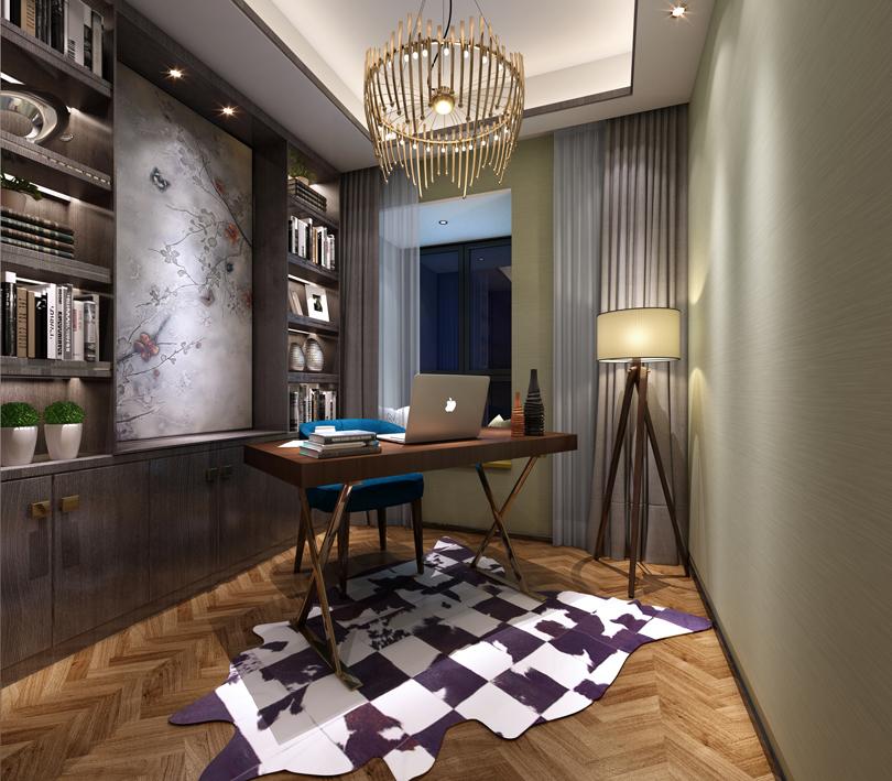 95平米三居室书房装修效果图