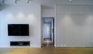 86平米三居室电视墙装修效果图