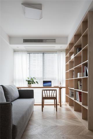 现代极简风四居书房装修效果图