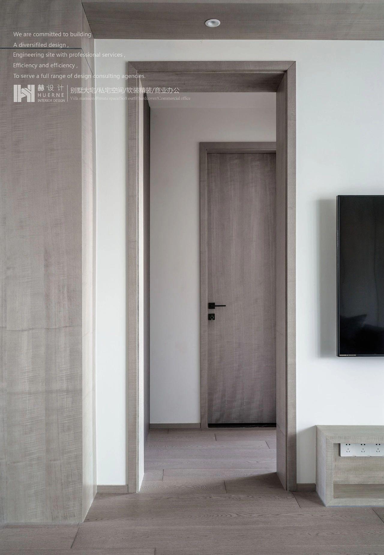 现代简约三居室过道装修效果图