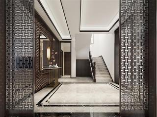现代中式别墅门厅装修效果图