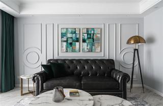 美式轻奢三居沙发背景墙装修效果图