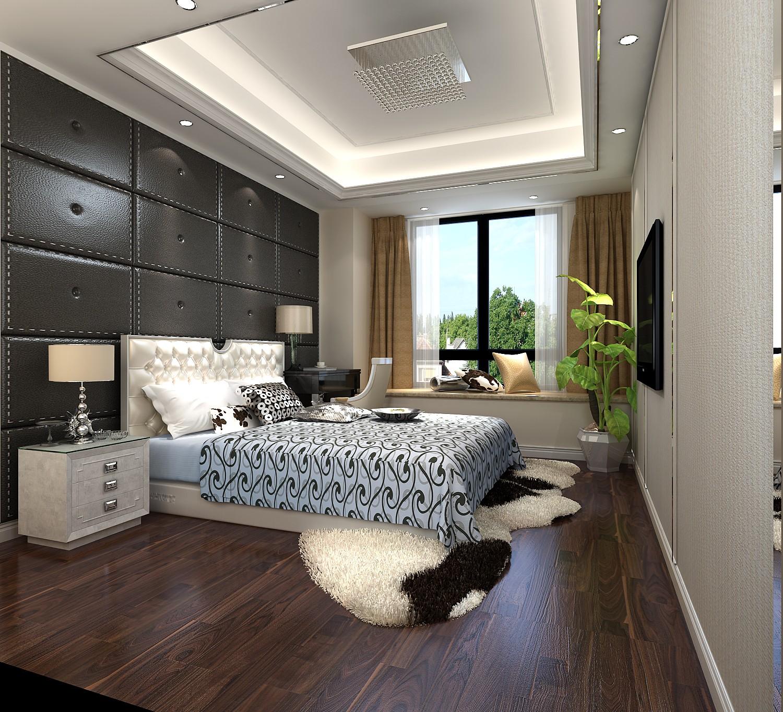 150㎡现代风卧室装修效果图