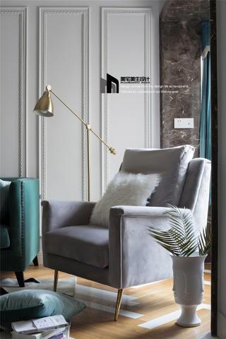 80㎡法式两居装修单人沙发设计