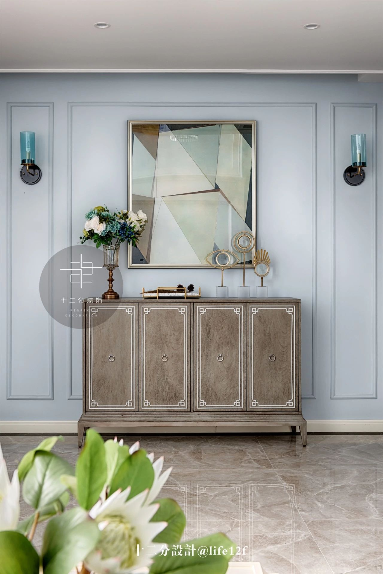 美式混搭风别墅装修装饰边柜设计