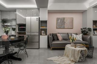 70平米二居室沙发背景墙装修效果图