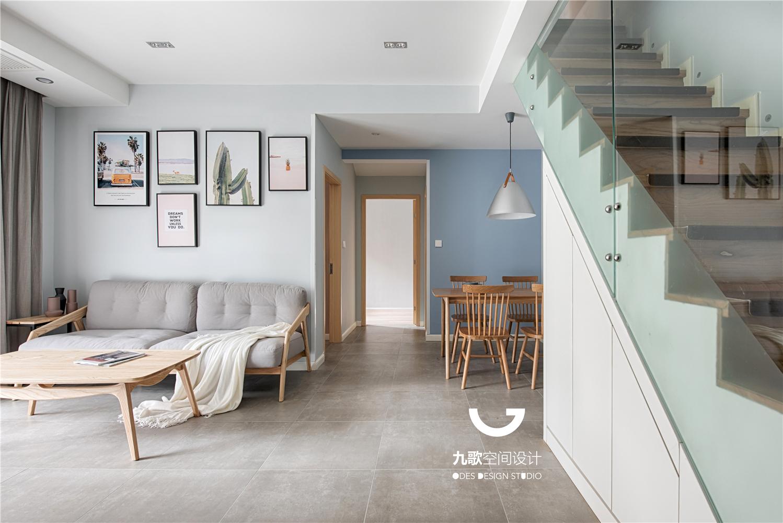 114㎡北欧风格沙发背景墙装修效果图