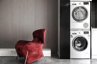 140㎡现代简约风格装修红色靠背椅设计