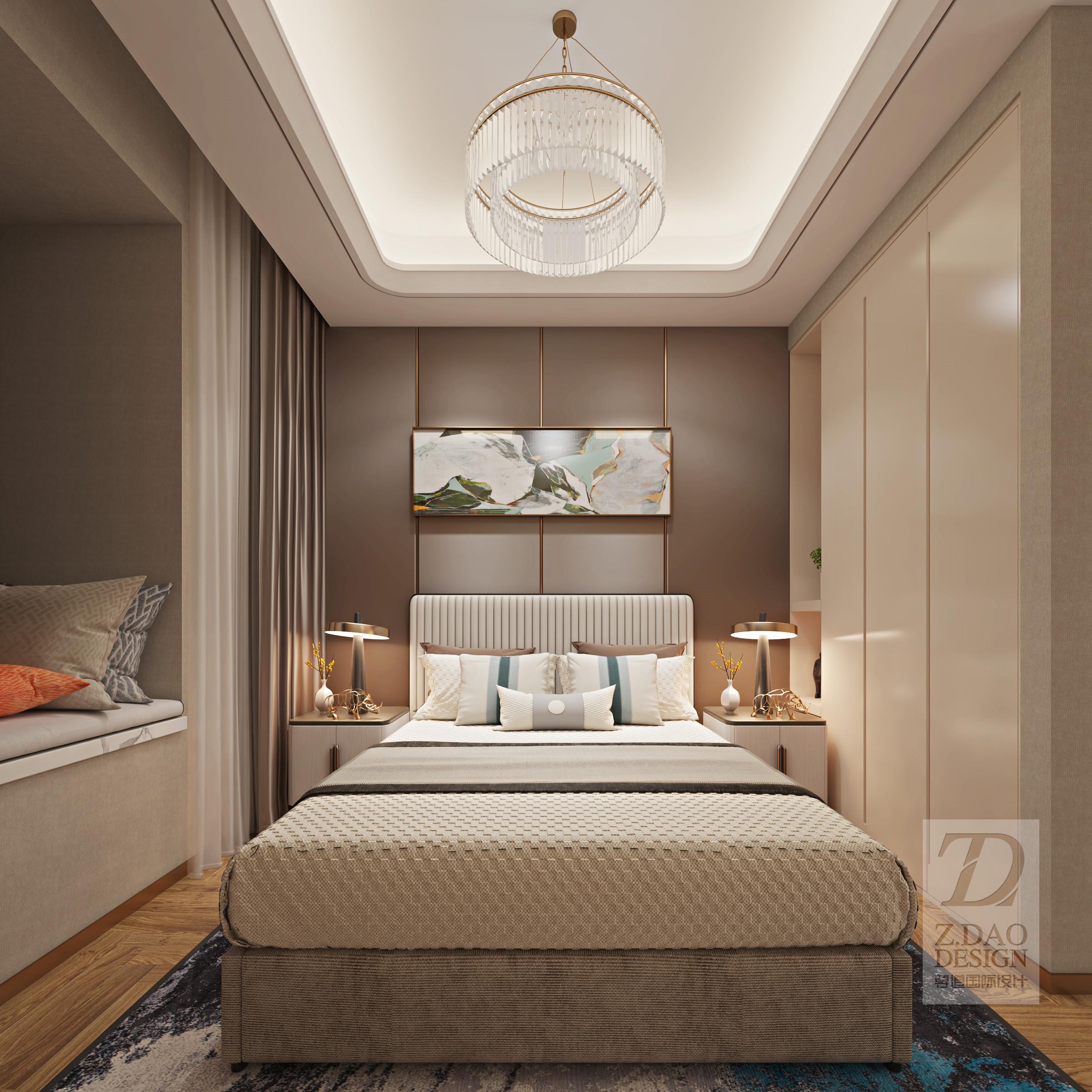 142㎡现代轻奢风卧室装修效果图