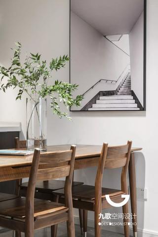 110㎡简约现代三居装修餐桌椅设计图