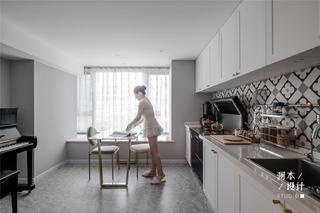 50㎡小户型公寓厨餐厅装修效果图