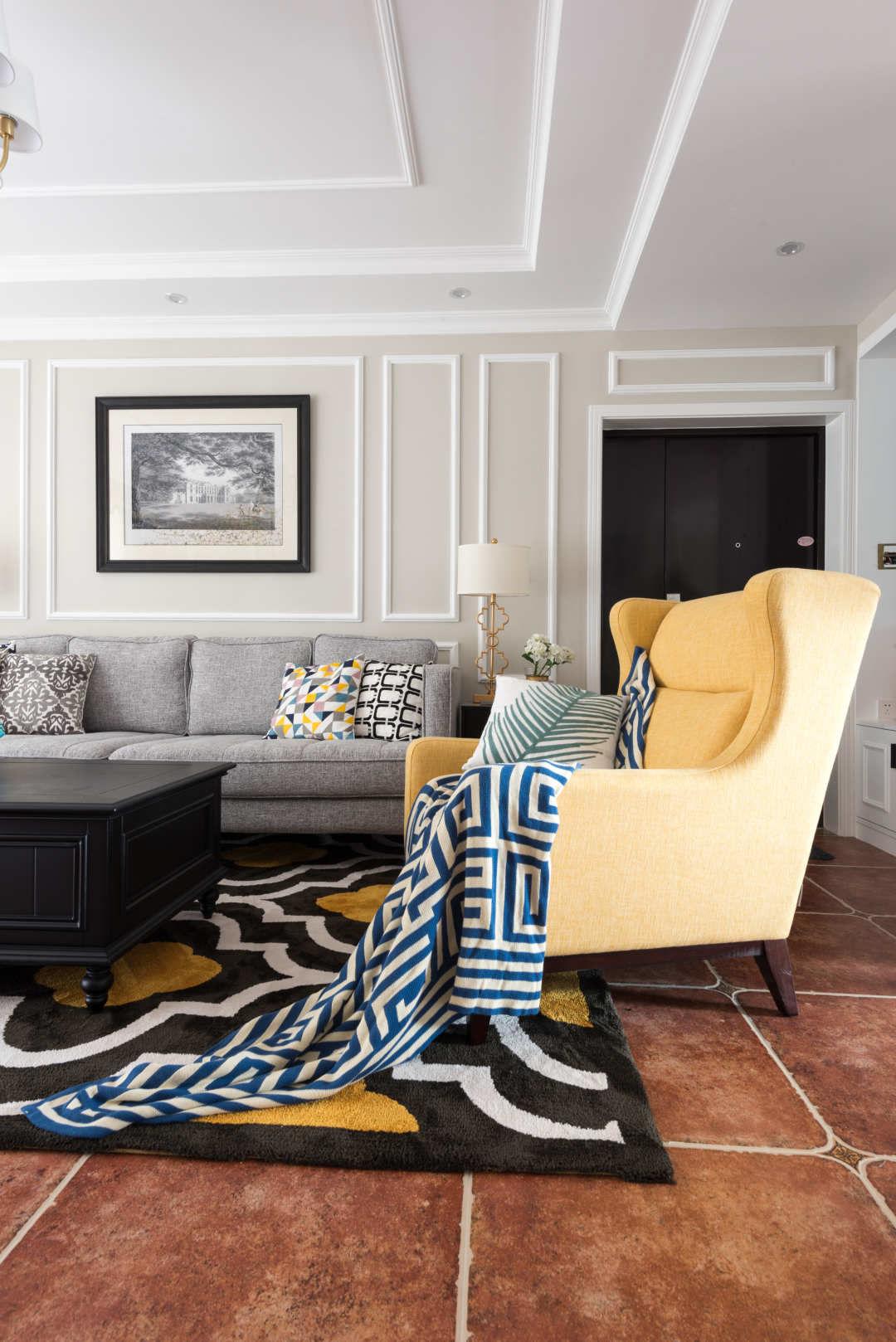 112平美式风格装修沙发椅设计