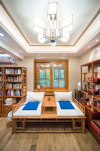 大户型中式风格书房装修效果图