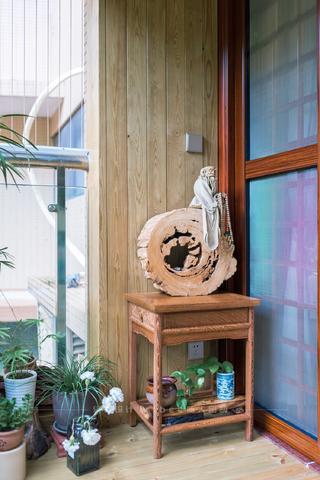 大户型中式风格装修阳台一角