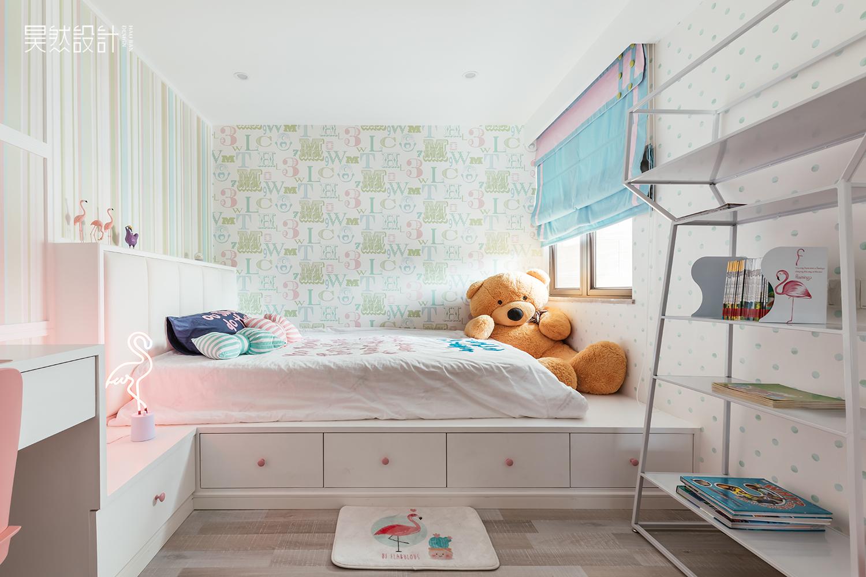 简约现代风格别墅榻榻米儿童房装修效果图