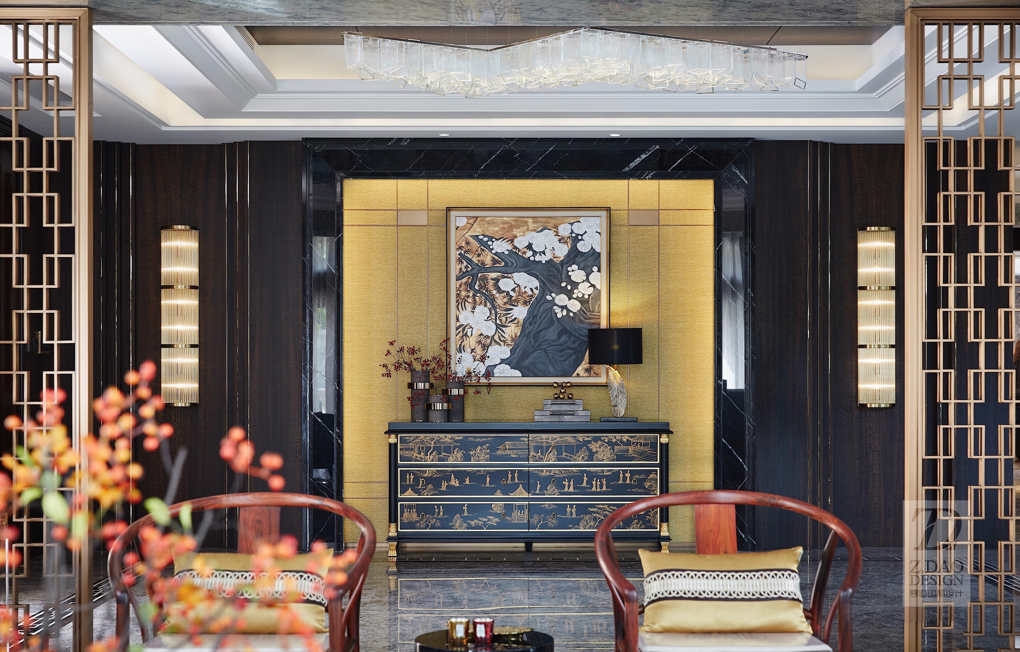 奢华新中式别墅玄关装修效果图
