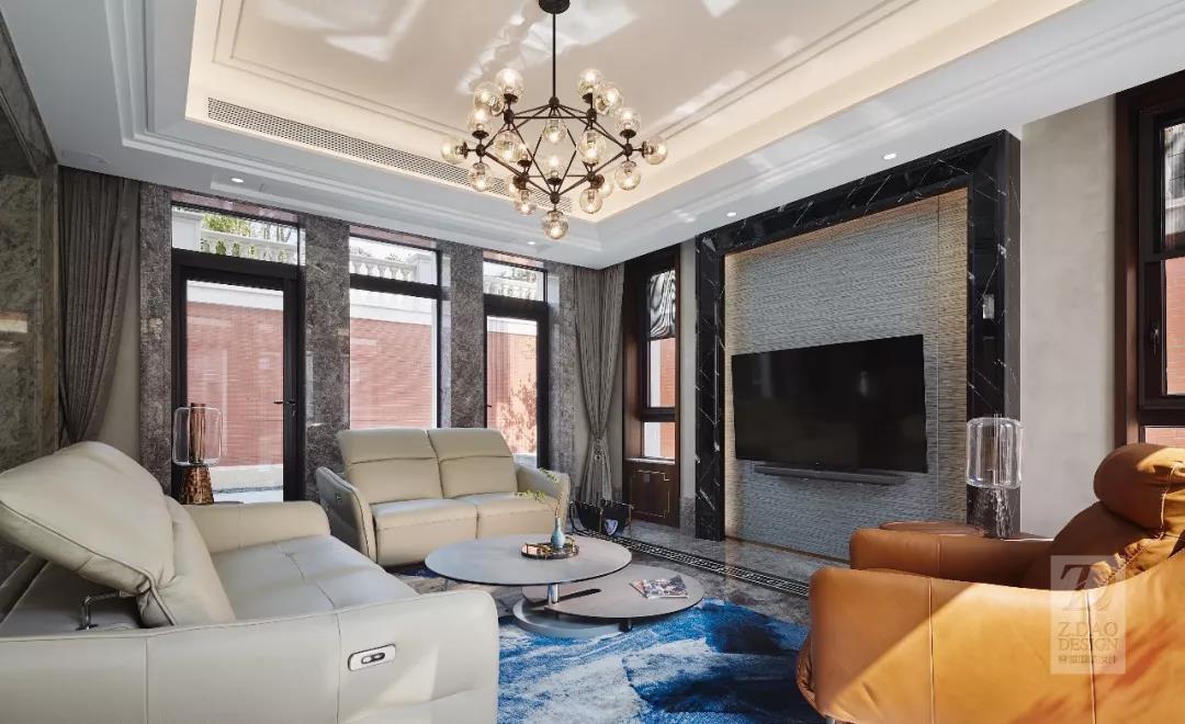 奢华新中式别墅家庭室装修效果图
