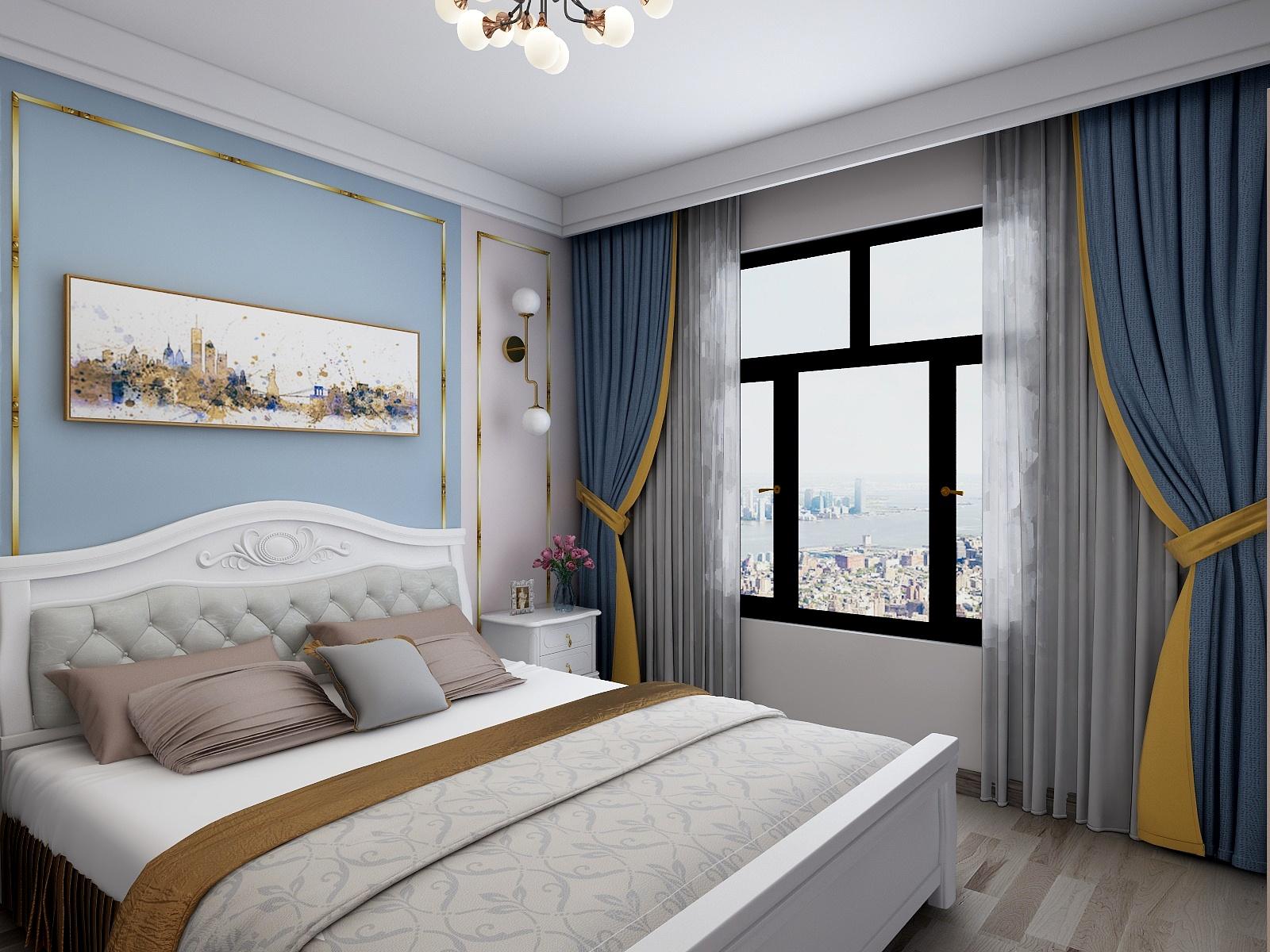 60㎡简美风格卧室装修效果图