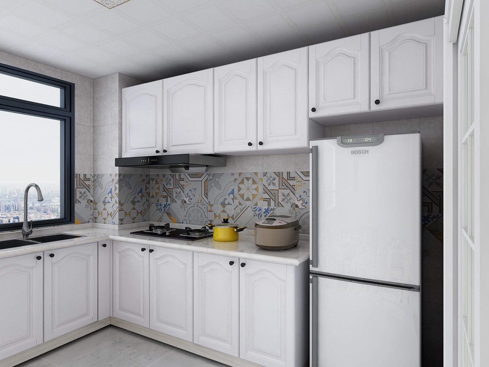 60㎡简美风格厨房装修效果图